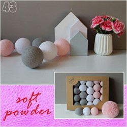 Świecce kule cotton balls soft powder - 10szt